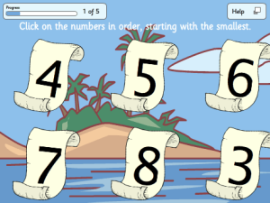Ordering Numbers - Pirates