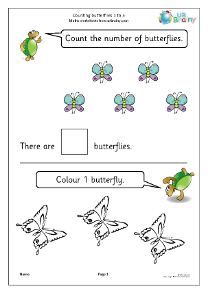 Counting butterflies: 1 to 5