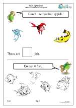 Counting fish: 1 to 5