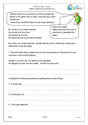 Preview of worksheet Three or four in one (KS2)