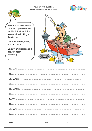 Preview of worksheet The great 'wh' question (KS2)