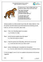 Developing writing: wonder questions (KS2)