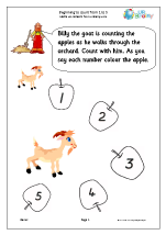 beginning to count 1 to 5 early counting maths worksheets for early reception age 4 5. Black Bedroom Furniture Sets. Home Design Ideas