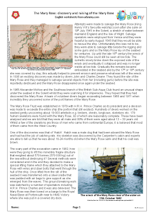 Mary Rose: discovery and raising (harder)
