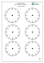 Worksheets Blank Clock Face Worksheet Printable clock faces time maths worksheets for year 2 age 6 7