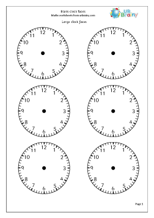 Time Worksheets free telling the time worksheets : Free Printable Blank Clock Worksheets - free printable clock faces ...