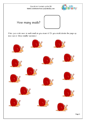Preview of worksheet Revise counting up to 20