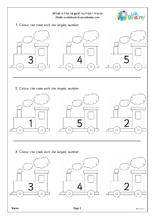 Preview of worksheet What is the largest number?