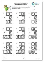 Multiplication: missing digits (2)