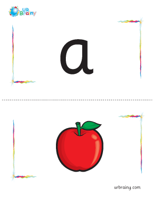Preview of worksheet a-apple flashcard