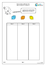 Solve number problems: dice (1)