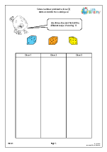 Solve number problems: dice (2)