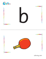 b-bat flashcard