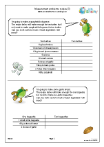 Measures: recipes 3