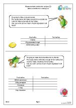 Measures: recipes 2