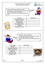 Measures: recipes 4