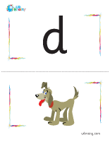 d-dog flashcard