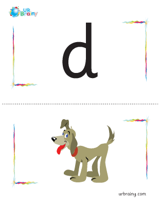 d-dog flashcard