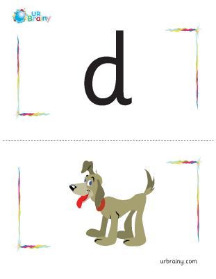 Preview of worksheet d-dog flashcard