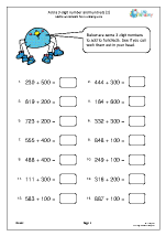 Add a 3-digit number and multiples of 100 (2)