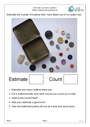 Preview of worksheet Estimate numbers up to 30 (4)