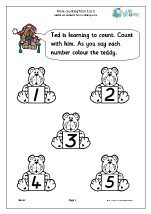 More counting:  1 to 5