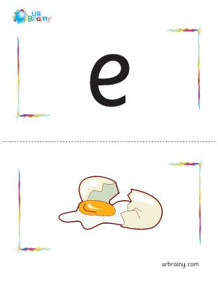 Preview of worksheet e-egg flashcard