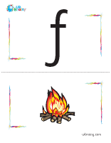 f-fire flashcard