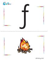 f-fire flashcard