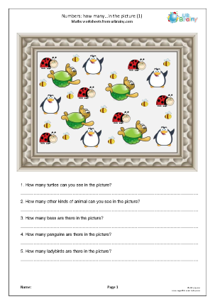 Preview of worksheet How many in the picture? (1)