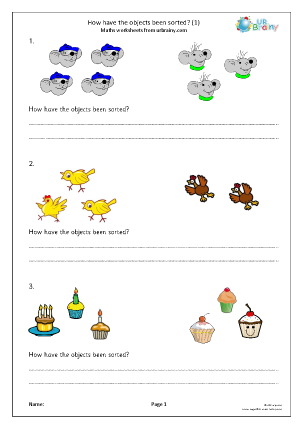 Preview of worksheet How have the objects been sorted? (1)