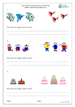 Preview of worksheet How have the objects been sorted? (2)
