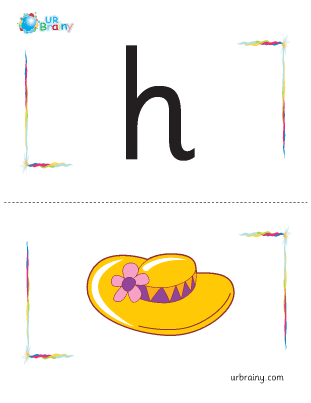 Preview of worksheet h-hat flashcard