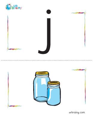 Preview of worksheet j-jar flashcard