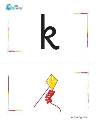 k-kite flashcard
