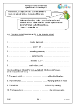 Adding adjectives and adverbs
