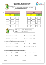 Facts about decimal fractions (inc. bar modelling) 1