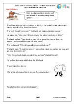 Direct to indirect speech: The Wolf and Lamb