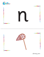 n-net flashcard