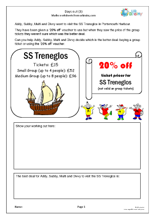 Preview of worksheet Days out (3)