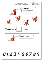 Counting cows: 1 to 5