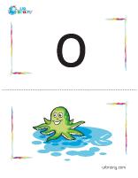 o-octopus flashcard
