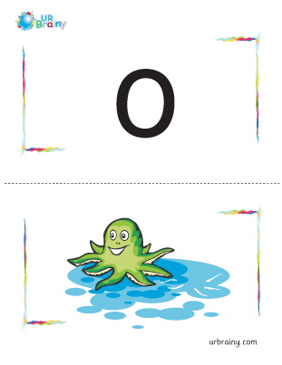 Preview of worksheet o-octopus flashcard