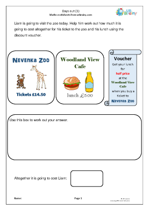 Preview of worksheet Days out (1)