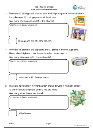Preview of worksheet Real life problems (1)