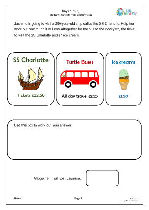 Preview of worksheet Days out (2)