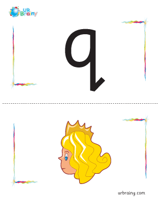 Preview of worksheet q-queen flashcard