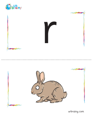 Preview of worksheet r-rabbit flashcard