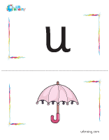 u-umbrella flashcard