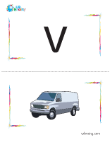 v-van flashcard